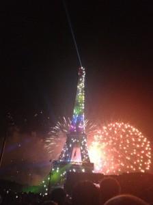 パリ祭夜のイベント編!エッフェル塔周辺の花火の時間と混雑状況は?