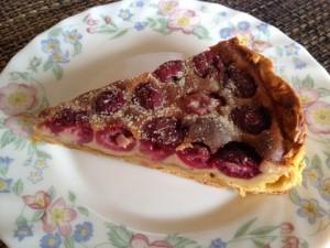 さくらんぼで作りました♪ジャムとフランスの焼き菓子「クラフティ」