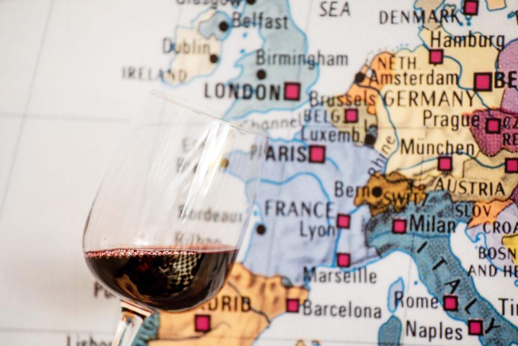 ワインと地図