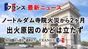 ノートルダム寺院火災から2ヶ月、出火原因のめどは立たず-6月第2週 フランス最新ニュース-