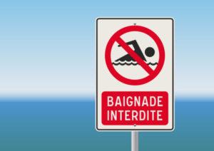 マルセイユのビーチで夏のバカンス期間に33回の遊泳禁止