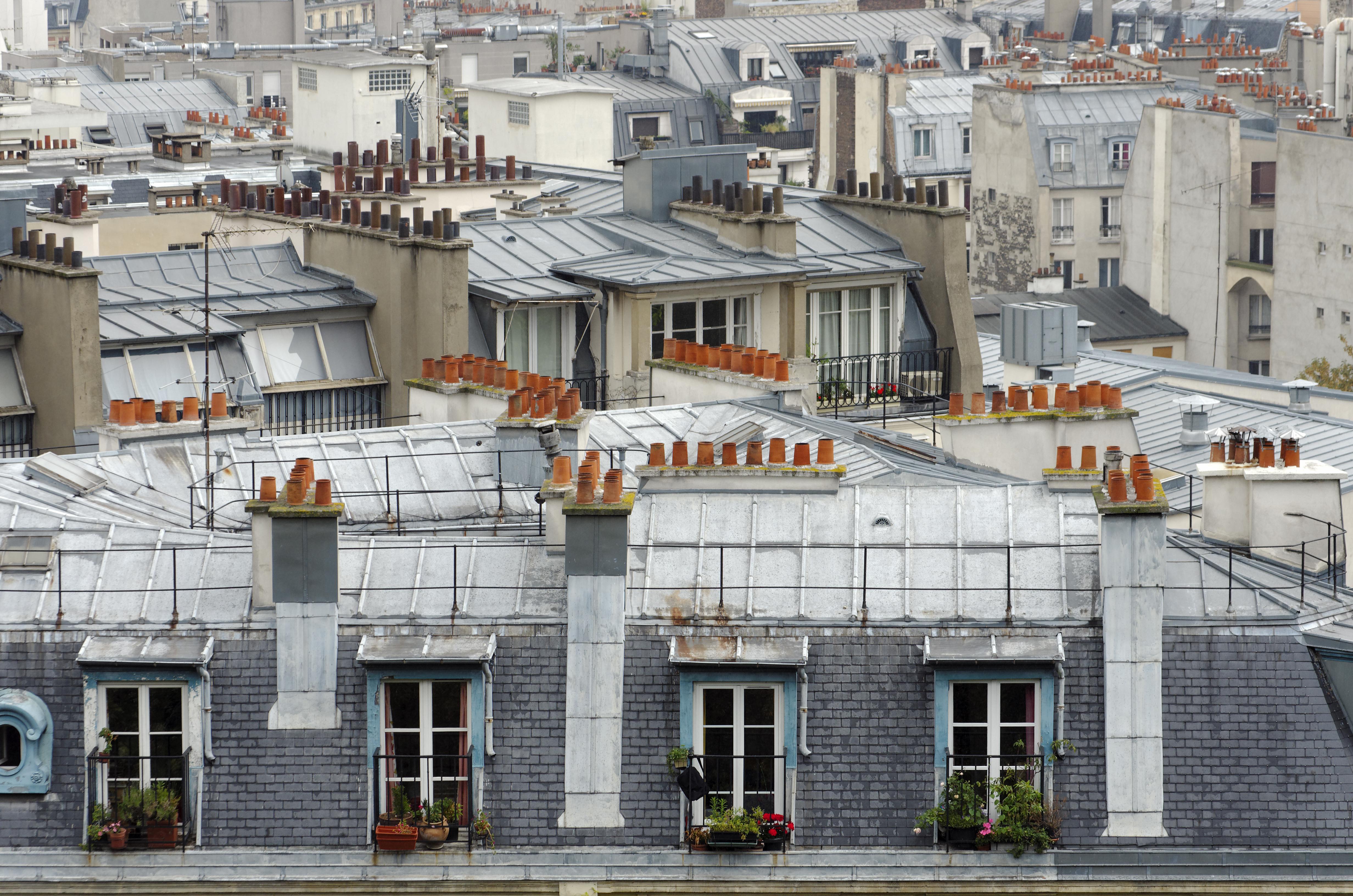 パリ建物 屋根