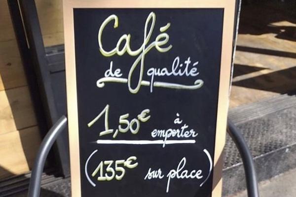 フランス カフェの看板