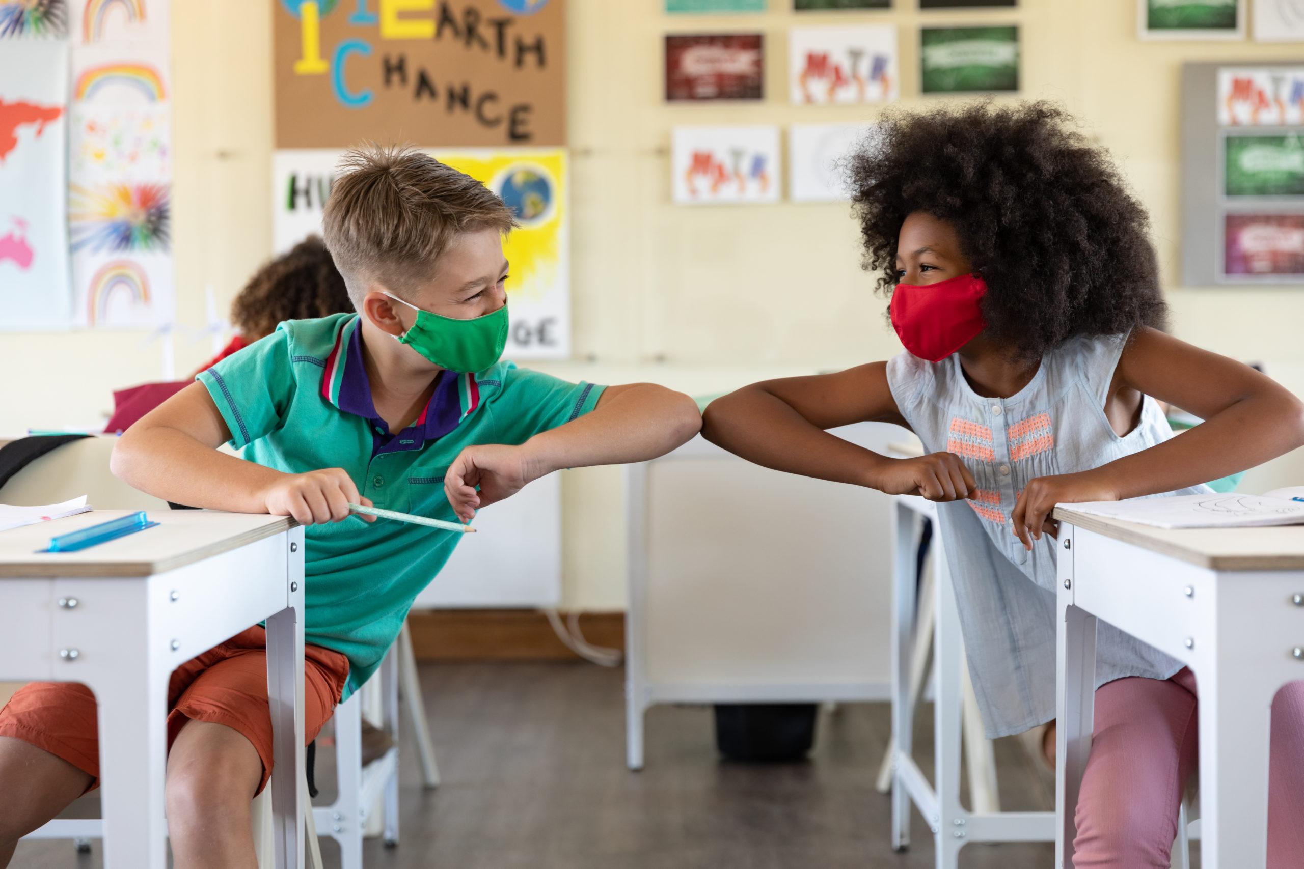 教室 子供 マスク